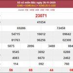 Phân tích XSMB 27/11/2020 chốt số dự đoán miền Bắc hôm nay