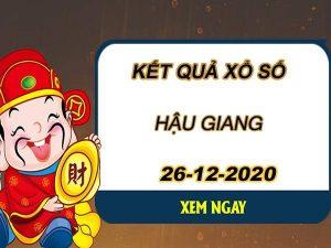 Phân tích KQXS Hậu Giang thứ 7 ngày 26/12/2020