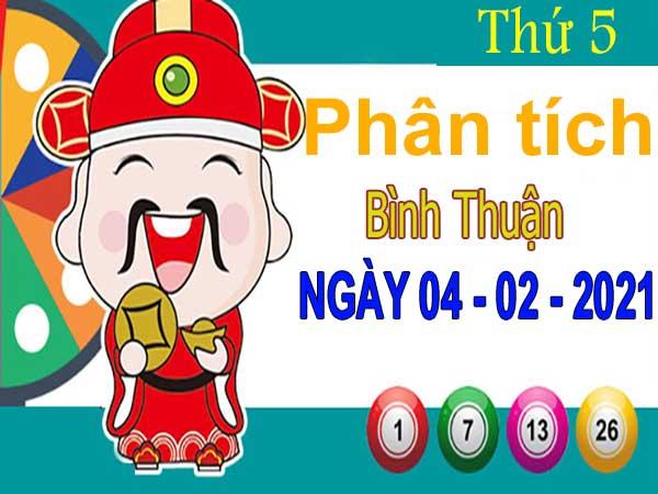 Phân tích XSBTH ngày 4/2/2021 – Phân tích xổ số Bình Thuận thứ 5